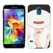 Husa Samsung Galaxy S5 Mini G800F Silicon Gel Tpu Model Abstract Women V13