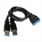 Cablu adaptor extern USB 3.0 Bitfenix BFA-U3-KU3MIU3M-RP