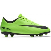 Nike Kids JR Mercurial Vortex III Fg Electric Green/Black Soccer Cleat 4. 5 Kids US