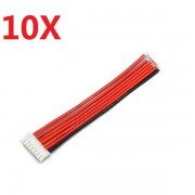 10PCS 2.54XH 22AWG 13CM 6S 7Pin Balance Cable Silicone Wire for Lipo Batteries