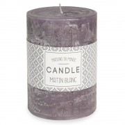 Maisons du Monde Dark grey cylindrical scented candle 7 x 10 cm