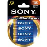 Sony Batterier: Stamina Platinum, AA (LR6), 1,5V, Alkaline, 4-pack