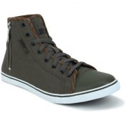 Puma Men Olive Streetballer Mid Zip IDP Casual Shoes 36615401