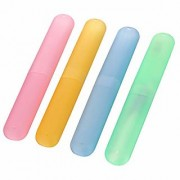 D S 4pcs Tooth brush cover case. lid travel kit toothbrush holder protector cap