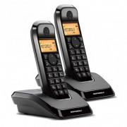 Motorola S1202 Pack 2 Telefones Sem Fios Pretos