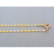 Zlatá retiazka žlté biele zlato zaoblené vzory DR42354V