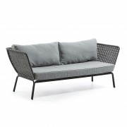 Canapea 3 locuri pentru interior sau exterior BERNIE, gri