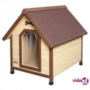 Kerbl kućica za pse za 4 godišnja doba 100 x 83 x 94 cm smeđa 81349