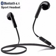 Wireless Bluetooth V4.1 Stereo Headset with Mic Noise Cancelling Sweatproof Sports Running Headset (Black)