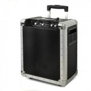 Skytec PA-200 Mobile DJ-PA-Anlage Trolley USB-SD-MP3 Akku