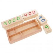 Segolike Montessori 1-9000 Number Cards Wooden Kids Math Counting Learning Toys Xmas Gift - wood, Big