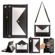 iPad 10.2 Multifunctionele Envelope Folio Case - Zilver / Zwart