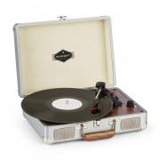 Auna Peggy Sue, грамофон, стерео високоговорители, USB порт, сребърен (TT316)