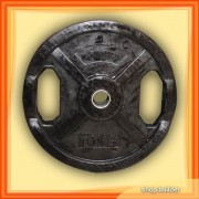 Rubber plate with grip (10 kg)