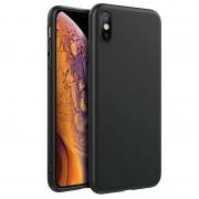 Husa APPLE iPhone XS Max - Luxury Slim Mat TSS, Negru