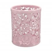 De La Flor De Rose Papelería Caja Pen Pencil Cup Pen Holder (rosa)