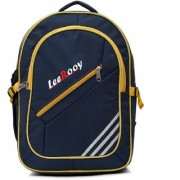 LeeRooy Canvas 22 Ltr Black Formal Bag Backpack For Girls
