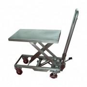 Rolléco Table élévatrice manuelle en inox 304 Capacité de charge : 200 kilos