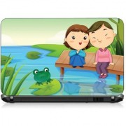 VI Collections CARTOONS BOY AND GIRL pvc Laptop Decal 15.6