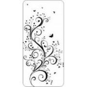 Skin Bright Samsung Galaxy J5 2017 J530 Black Flower