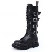 bottes en cuir pour femmes - STEEL - 139/140-4P