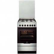 Aragaz mixt Electrolux EKK52550OX 4 Arzatoare gaz Cuptor electric Aprindere integrata Clasa A 10% Grill 50 cm Inox