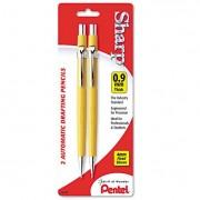 Sharp Mechanical Drafting Pencil, 0.9 Mm, Yellow Barrel, 2/pack