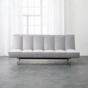 Flex Microgrid Grey Sleeper Sofa by CB2