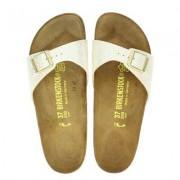 Birkenstock Madrid Snake slippers ecru