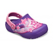Crocs Fun Lab Shooting Stars Klompen Kinder Neon Purple 27