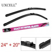 """SLB Works UXCELL 2PCS of 24"""" 20"""" Exact Fit Front Car Windshield Wiper Blades for BMW X5 (E70) 2007 to 2012 for BMW X6 (E71) 2008 to 2012"""