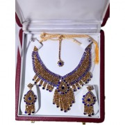 Roya Fashion Jewelry Gold Plated Kundan Pearl Stylish Fancy Party Wear Wedding Necklace Set Traditional Jewellery Set wi