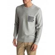 Quiksilver Pulover Baggao Light Grey Heather EQYSW03197-SGRH M