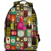 """Sleevy laptop rugzak 17,3"""" Deluxe kleurrijke symbolen"""
