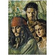 Pirates of the Caribbean Photomosaic Pirates Group Jigsaw Puzzle 300pc