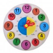 Puzzle lemn educativ invata ceasul