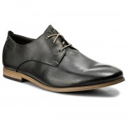 Обувки CLARKS - Chinley Walk 261153717 Black Leather