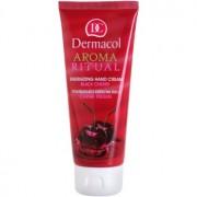 Dermacol Aroma Ritual creme energizante para mãos cereija preta 100 ml