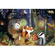 Puzzle Schmidt - Animale salbatice, 3x24 piese, include 1 poster (56220)