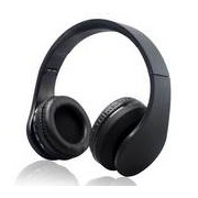 WPOWER K-818 Bluetooth, MP3, sztereó headset, fekete