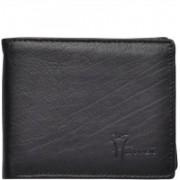 Hawai Men Casual, Formal Black Genuine Leather Wallet(6 Card Slots)