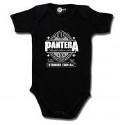 Body bebeluș Pantera - Stronger Than All - in white - Black - Metal-Kids- 517-30-8-7
