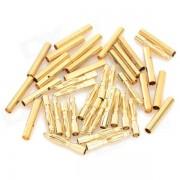 2.0mm chapado en oro banana enchufe Jack Connector conjunto - de oro (20 pares)