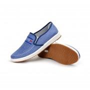 Zapatillas Respirable Zapatos De Lona Moda Zapatos De Hombre-Azul