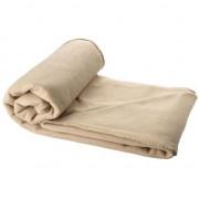 Merkloos Fleece deken beige 150 x 120 cm