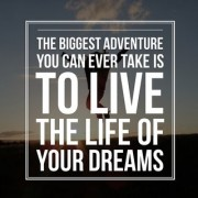 5 Ace the biggest adventrue you can ever take is wall sticker poster motivational and inspirational(size:12x18 inch) multicolo