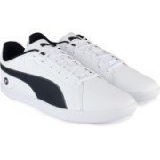 Puma BMW MS Court Sneakers For Men(White, Black)