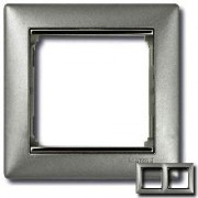 Рамка 2 поста Legrand Valena алюминий/серебряный