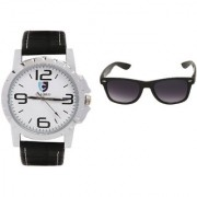 CALIBRO White-Black Men's watch Black Wayfarer Sunglass