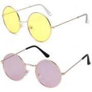 Phenomenal Round Sunglasses(Yellow, Pink)